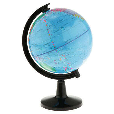 World Globe Map Geography Table Educational Toy Kid Gift Swivel Stand 10.6cm