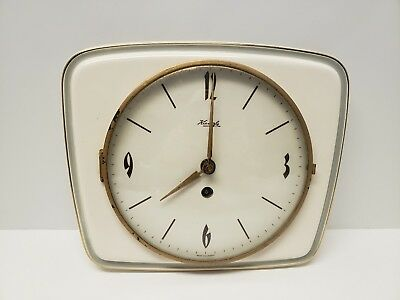 Kieninger German Antique Ceramic Kitchen Wall Clock | Kienzle Junghans era BROKE