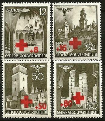 Germany (Third Reich) General Government 1940 MNH Red Cross Mi-52-55 SG 409-412