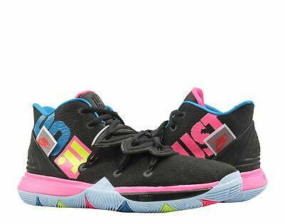 new style 0d140 49f2f Nike Kyrie 5 Black Volt-Hyper Pink (GS) Big Kids Basketball Shoes
