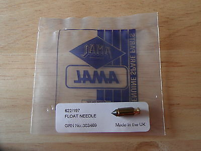 622/197 Amal Monobloc Mk1 Concentric Carb Brass Float Needle Norton Triumph Bsa