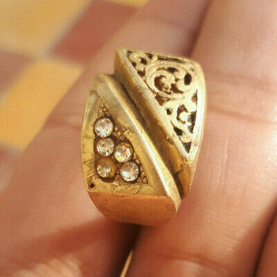 EXTREMELY RARE Ancient antique RING BRONZE musem RING artifact VERY Stunning