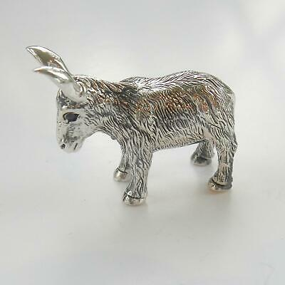 Solid Silver Donkey Charm Miniature