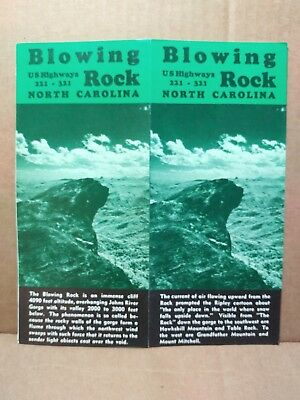 1950s Blowing Rock Travel Brochure North Carolina Vacation Road Trip Scenic