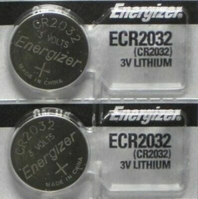 Lot of 2 PC ENERGIZER CR2032 WATCH BATTERIES 3V LITHIUM CR 2032 DL2032 BR2032