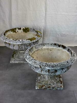 Pair of very large vintage garden planters - Medici form