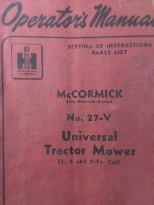 IH INTERNATIONAL FARMALL McCormick 100 2pt 3pt Balanced Head