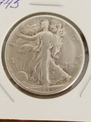 "1945 P Standing Liberty Half Dollar 90% Silver Us Mint ""averaged Circulation"""
