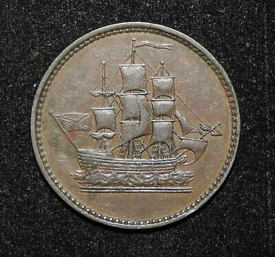 1835 PEI Prince Edward Islands Canada Ships Colonies & Commerce Copper Token