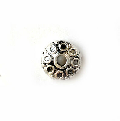 Antique Silver Plated Lead Free Alloy 8mm Circles Saucer Donut Spacer Beads Q50
