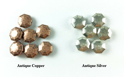 Antique Copper Brass Silver Plated Lead Safe Alloy 9mm Octogon Coin Beads Q30