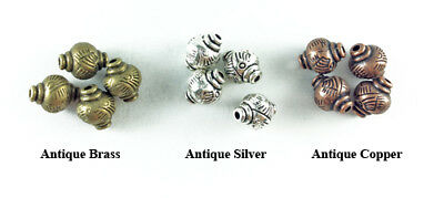 Antique Silver Plated Lead Safe Alloy 12x9mm Decorative Lantern Beads Q16