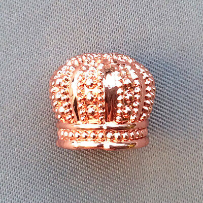 Rose Gold Copper Plated Brass 12x10mm His Majesty's Crown Tassel Bead Caps Q4