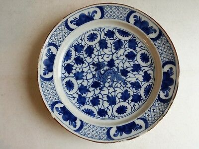 Antique Blue And White Dragon Dish Chinese Porcelain Porcelaine Chine Bleu Blanc