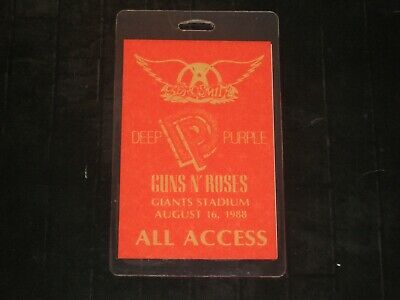 Aerosmith**Guns N Roses***Deep Purple**1988 Otto All Access Backstage Pass* Rare
