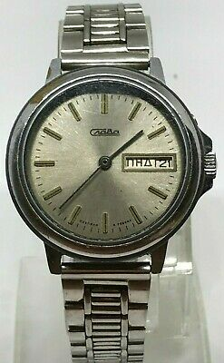 Watch Slava Jewels Soviet Ussr S Russian Mechanical Mens Rare Vintage Old