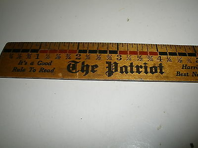 vintage The Patriot Evening News ruler Harrisburg Pa great advertising
