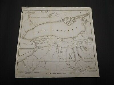 1850 Map Western New York In 1809 Albany R.h. Pease  Finger Lakes Ontario Erie
