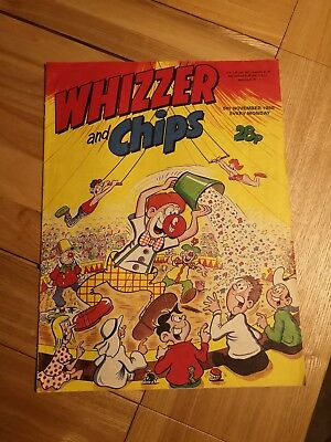 Whizzer and Chips Comic 5th November 1988 - good condition