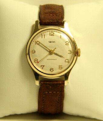 Vintage Smiths Shockproof Gents Gold Plated Watch