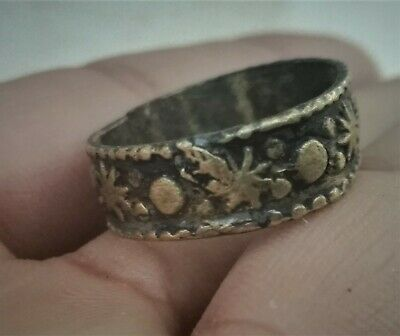 Rare Ancient Solid Ring Antique Roman REAL Bronze Stunning Artifact LION RING