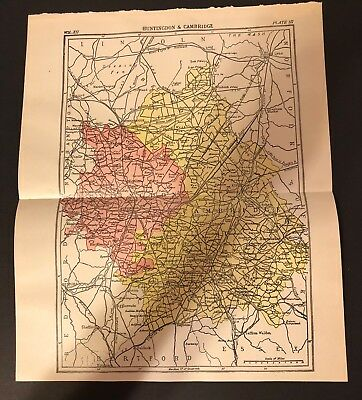 Antique 1905 Encyclopaedia Britannica Folding Color Map ITALY