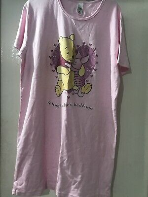 New Ladies Valentines Winnie The Pooh Nightie Disney Store Size Medium 12 To 14