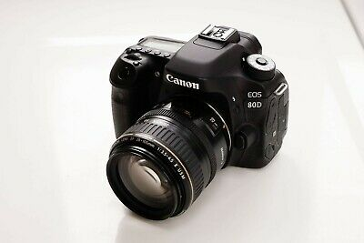 Canon EOS 80D DSLR Camera with Canon EF 28-105mm II USM Zoom Lens & 2 Batteries