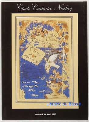 Ancienne Collection Guillaume Apollinaire 1993 Catalogue Couturirer Nicolay