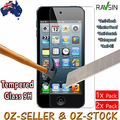 Apple iPod Touch 6th 5th Gen Tempered Glass Screen Protector iPod 5 iPod 6 2x 1x