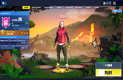 Fortnite Account With Save The World And Vbuck Eu Pc