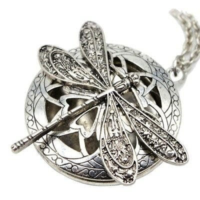 1 PC Vintage Openable Dragonfly Pendant Necklace Chain Jewelry Decor Women Nice