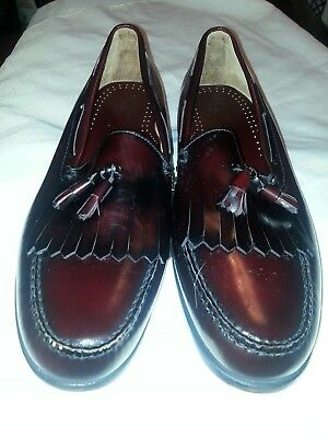 8ea84d968ae GH Bass Co Weejuns Brown Leather Kiltie Tassel Loafer Men s Size 18-A Shoes