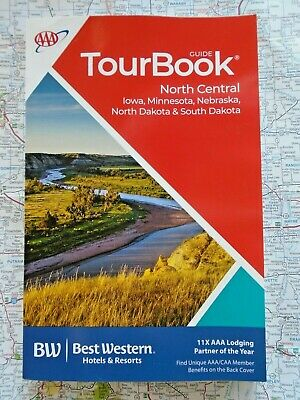 AAA IOWA MINNESOTA NEBRASKA NORTH SOUTH DAKOTA TourBook Travel Guide Book 2020