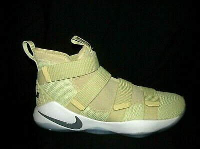 7a235f4ea812 NIKE LEBRON SOLDIER XI TB Mens Basketball Shoes 15 Team Gold White ...