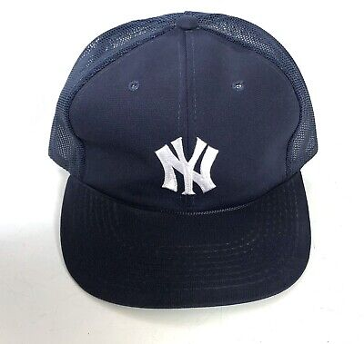 16bf26d6ba1c7 Vintage New York NY Yankees Baseball Cap Hat MLB Sports Trucker Mesh  Snapback