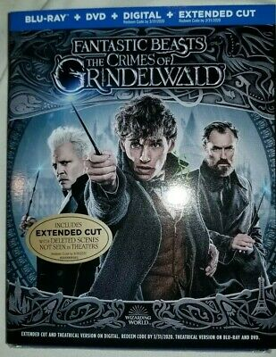 Fantastic Beasts The Crimes Of Grindelwald - Blu-Ray + Dvd + Digital + Slipcover