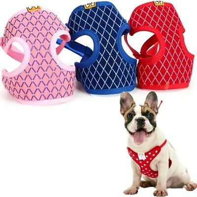 Small Pet Control Harness Vest & Leash Set Puppy Dog Cat Soft Mesh Strap Collar