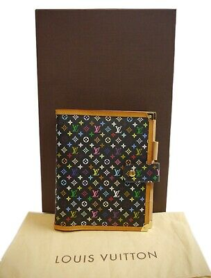 Authentic LOUIS VUITTON Agenda GM notebook cover rare Multi-Color PVC #2329