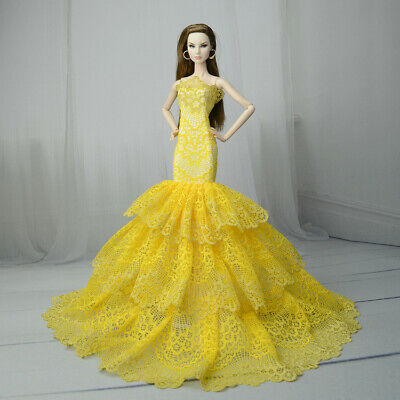 Royalty Mermaid Dress Party Dress/Wedding Clothes/Gown For 30MM Barbie Doll