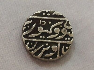 Vintage1700s Rare Real Old Sterling Silver Mughal Urdu Islamic Antique Coin **
