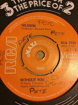 "Nilsson Without you/Everybody's talkin'/kojak columbo 7"" single"