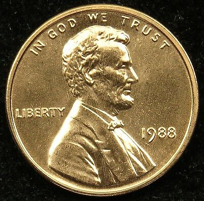 1988 Uncirculated Lincoln Memorial Cent Penny BU (B05)