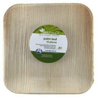 Eco Palm Leaf Square Plates (8in.) Pk 10