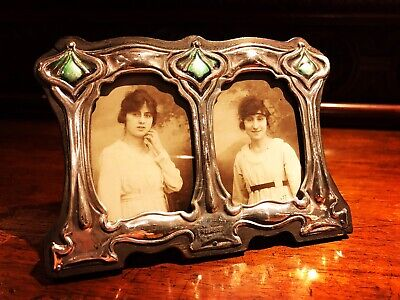 Silver Picture Frame. Double Picture Frame.