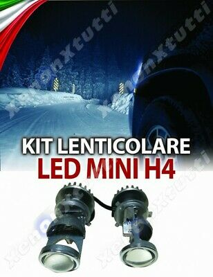 KIT FARI bi-led LENTICOLARE LENTE  H4 LENS PROJECTOR MINI 12000lm