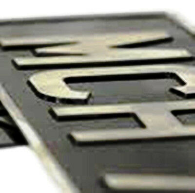 Black and Silver Pressed Aluminium Number Plate