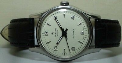 Vintage Zenith Pilot Winding Swiss Made Wrist Watch s118 Old Used Antique