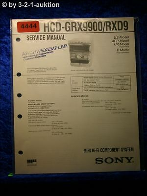 Sony Service Manual HCD GRX9900 /RXD9 Component System (#4444)