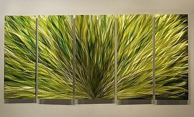 Statements2000 3d Metal Wall Art Painting Modern Green Sculpture Decor Jon Allen